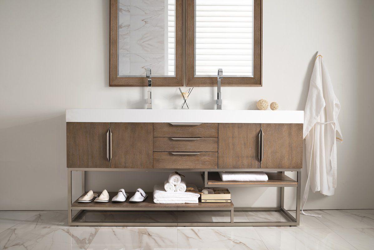 Hulett 72 Double Bathroom Vanity Set Double Vanity Bathroom Single Bathroom Vanity Bathroom Sink Vanity