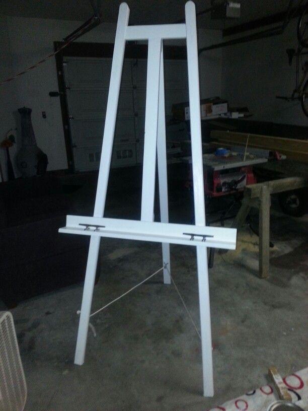 Homemade easel | Diy easel, Wooden easel, Art studio at home