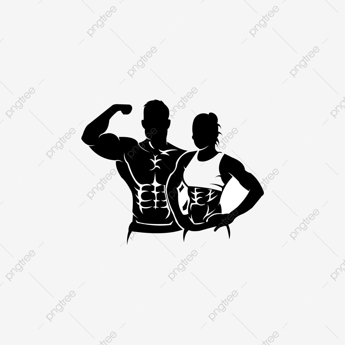 Physical Fitness Sport Gym Logo Bodybuilder With Big Muscles Posing Isolated Vector Silhouette Front View Human Clipart Logo Icons Sport Icons Png And Vector Gym Logo Fitness Backgrounds Bodybuilding Logo