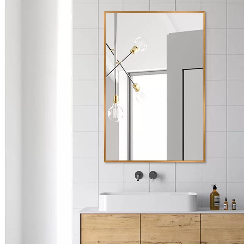 Matthews Bathroom Vanity Mirror In, Chaz Modern Contemporary Beveled Bathroom Vanity Mirror