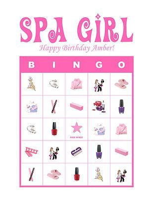 Girl Spa Party Games