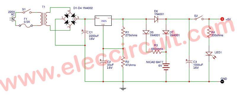 Simple ups circuit diagram - ElecCircuit Electronic  Electric