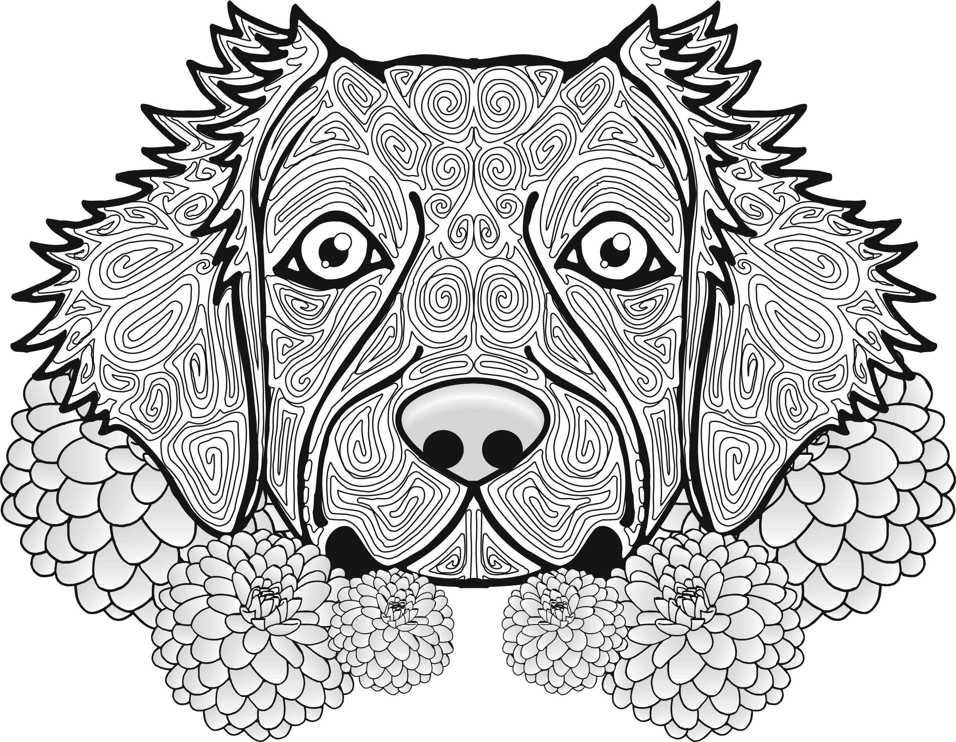 Dog Coloring Page Animal Coloring Pages Coloring Pages [ 2411 x 3107 Pixel ]