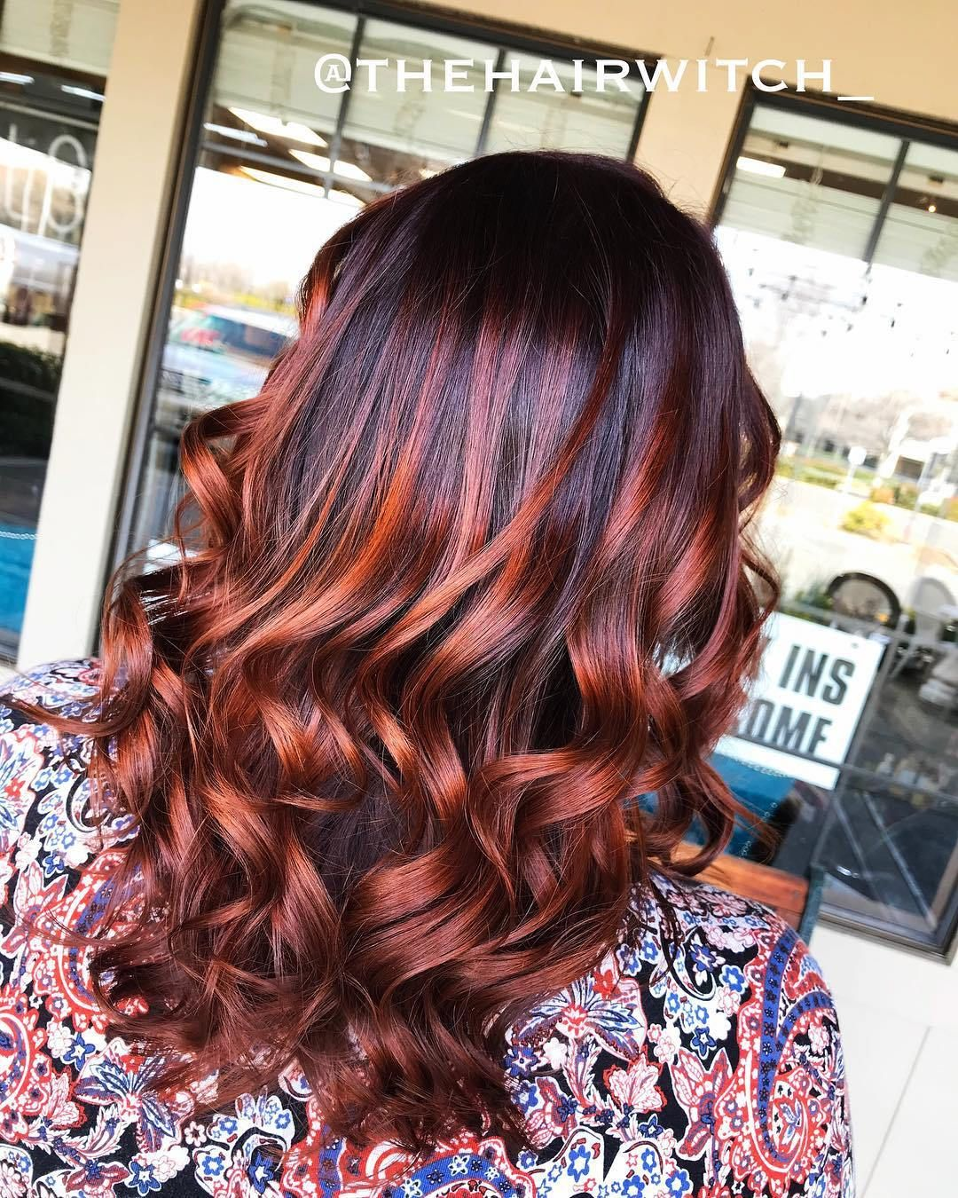 Dark Brown Hair With Copper Highlights Red Highlights In Brown Hair Brown Blonde Hair Copper Highlights On Brown Hair