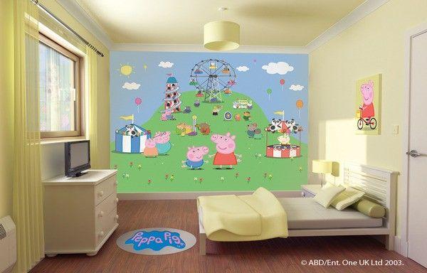 Decorazioni camerette ~ Peppa pig decorazione murale per pareti cameretta maxi poster