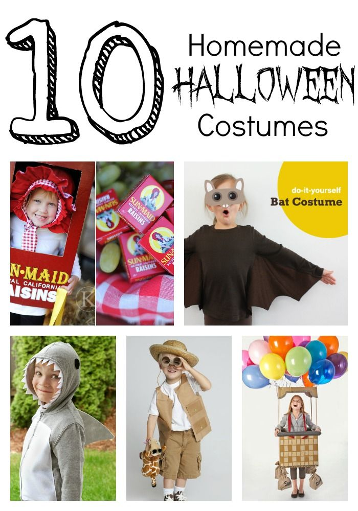 10 homemade Halloween costumesso cute! Seasonal Ideas - homemade halloween decorations kids