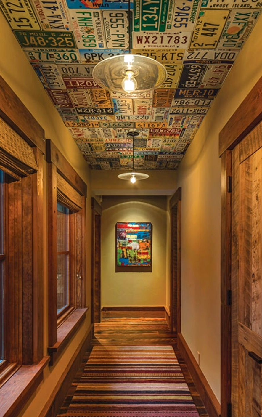 License Plates On The Ceiling For The Home Pinterest
