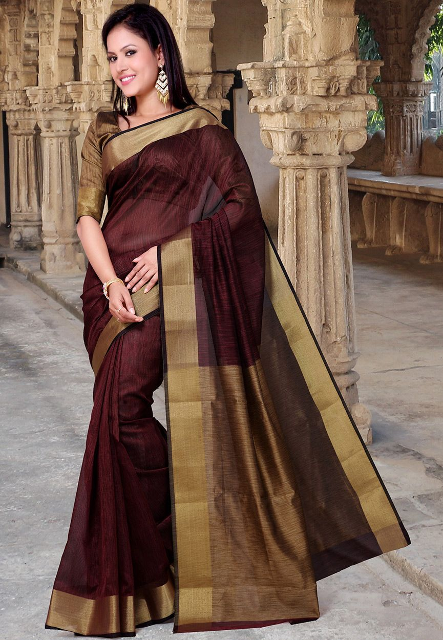Dark Maroon Super Net Saree With Blouse Ssx5269 With Images