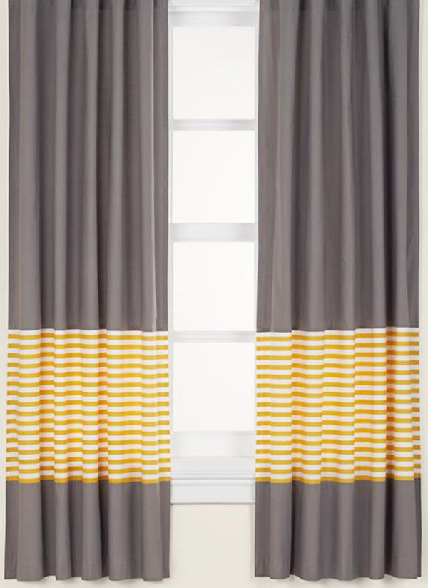 Love This Idea Buy Pink Curtains Sew A Color Block Of Blue At The