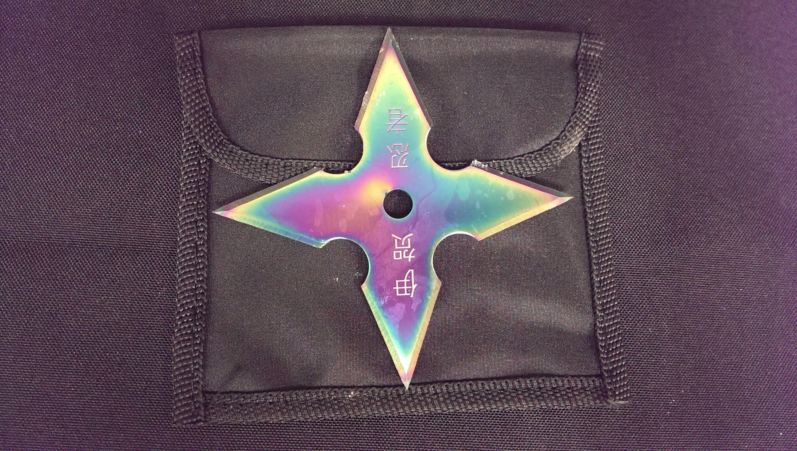 ST544-4RW Rainbow Throwing Star
