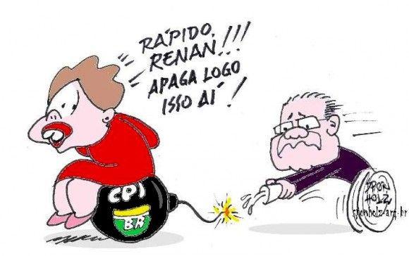 Renan ajuda Planalto e adia criação de CPI
