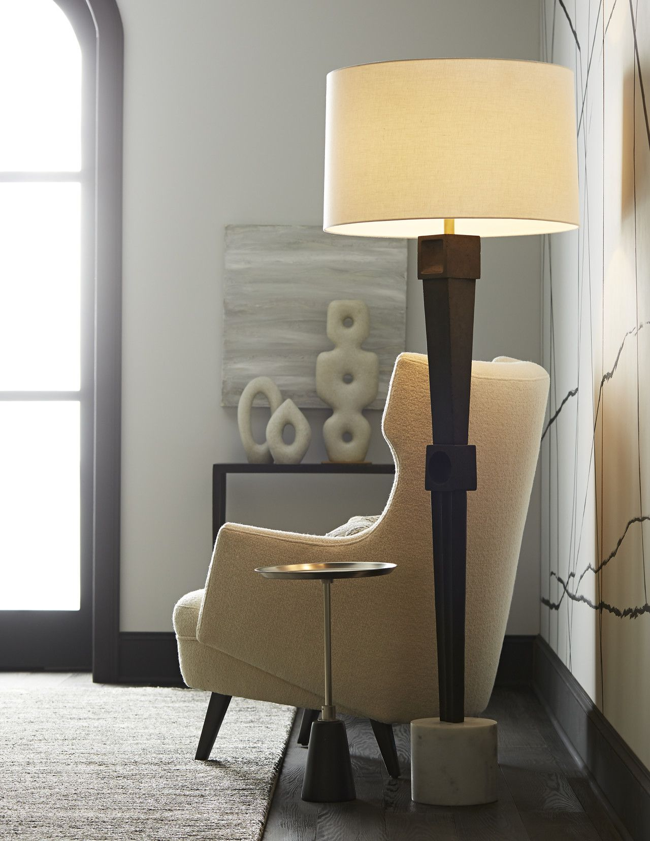 An Echo Of Brutalist Architecture The Tanner Floor Lamp By Arteriors Is A Sculptural Work Of Art It S Unique In 2020 Fitted Furniture Contemporary Floor Lamps Lamp