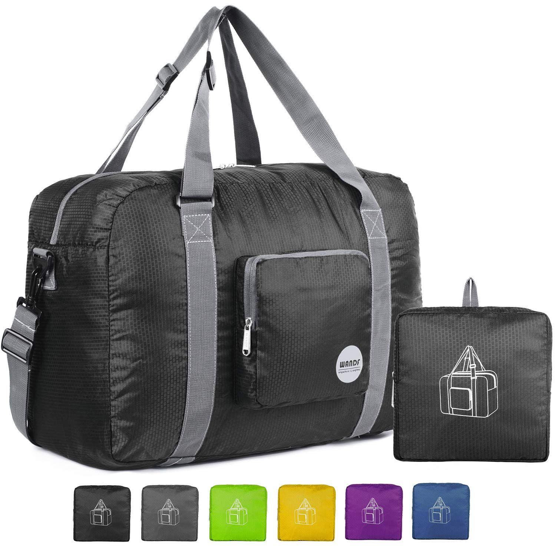 WANDF Foldable Travel Duffel Bag Sac de Voyage Pliable Sac de Sport Gym R/ésistant /à leau Nylon