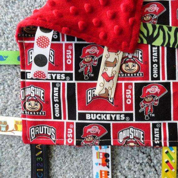 Ohio State Sensory Lovey Ncaa Lovey Baby Shower Gift Ohio State