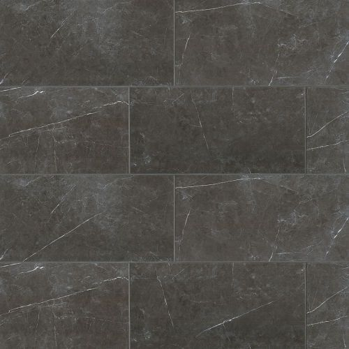 Troy 12 X 24 Floor Wall Tile In Nero Tile Floor Dark Tile Shower Flooring