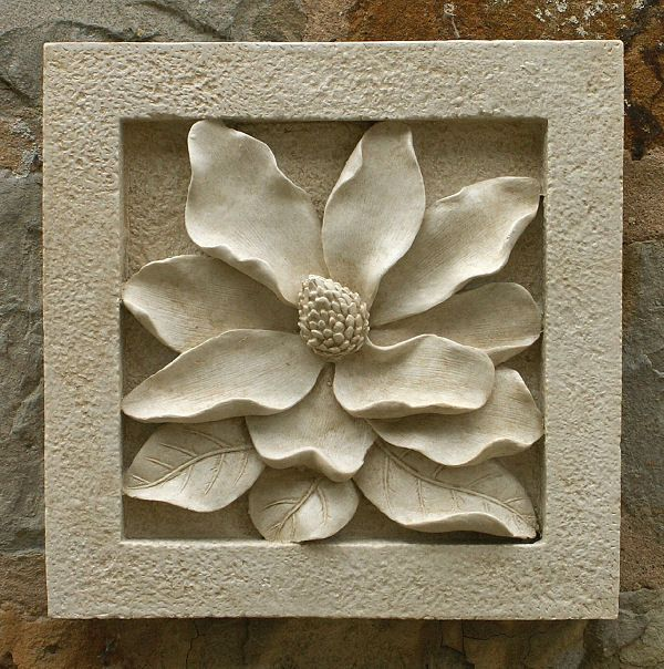 Wall Plaques Enchanting Garden Wall Plaques  Floral Wall Plaques  Magnolia Wall Tile Review