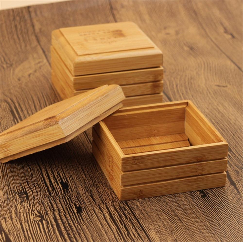 Wood Bamboo Soap Dish, Soap Drip Tray, Eco Friendly