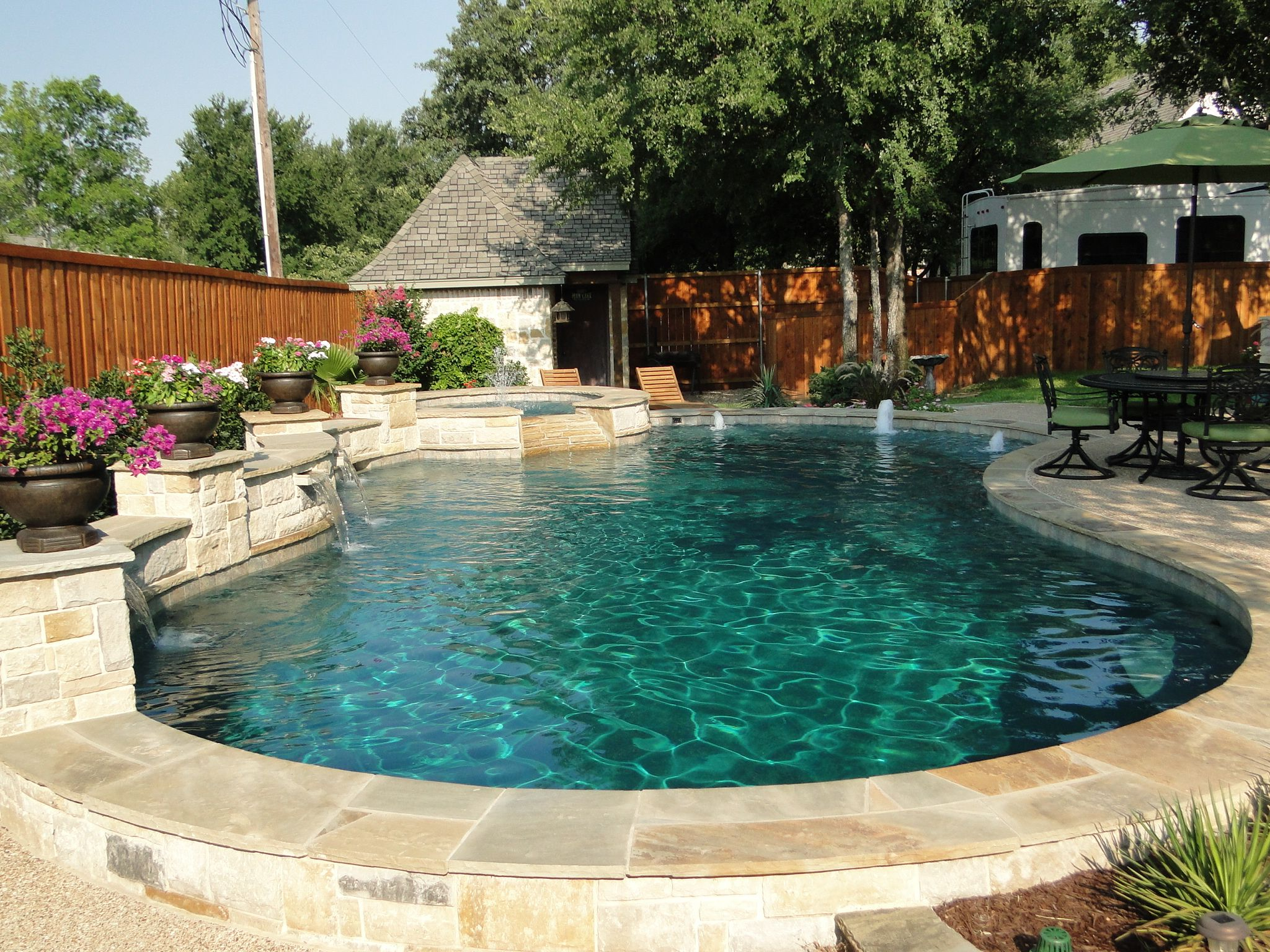 Freeform Pool Bridgeport Texas Limestone Oklahoma