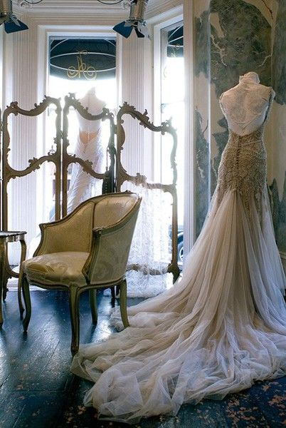 J\'Aton Couture bridal gown.. the train omg | Gowns | Pinterest ...
