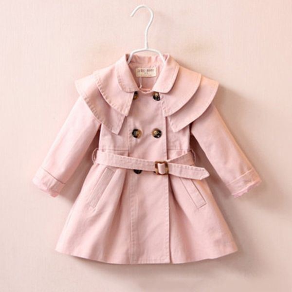 4b2b7f1de US$ 46.01 - Stylish Girls Windbreaker Kids Trench Coat For 1Y-7Y ...