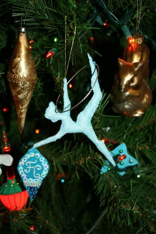 Christmas decoration hoola hoop girl. By JoLynn Self