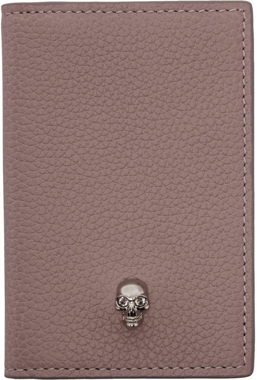 Skull card holder - Pink & Purple Alexander McQueen gapw5R7ivZ