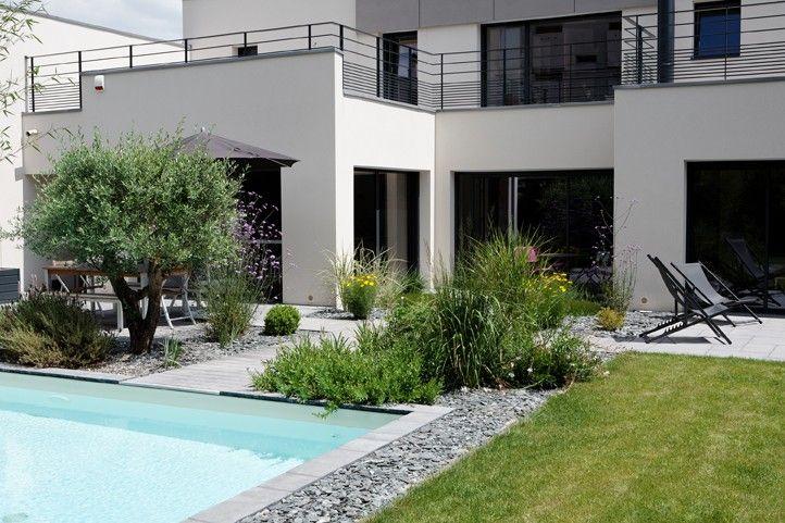 mini piscine contemporaine caron piscines plus patios and terraces pinterest italia. Black Bedroom Furniture Sets. Home Design Ideas