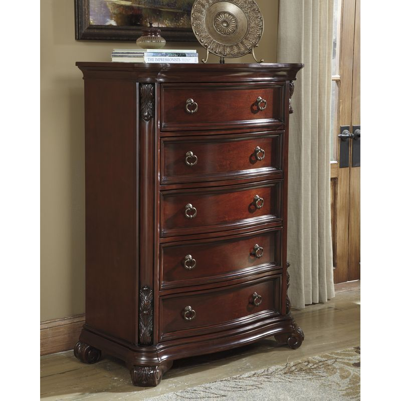 Martanny Five Drawer Chest 1 Solid Wood Chest Chest Of Drawers