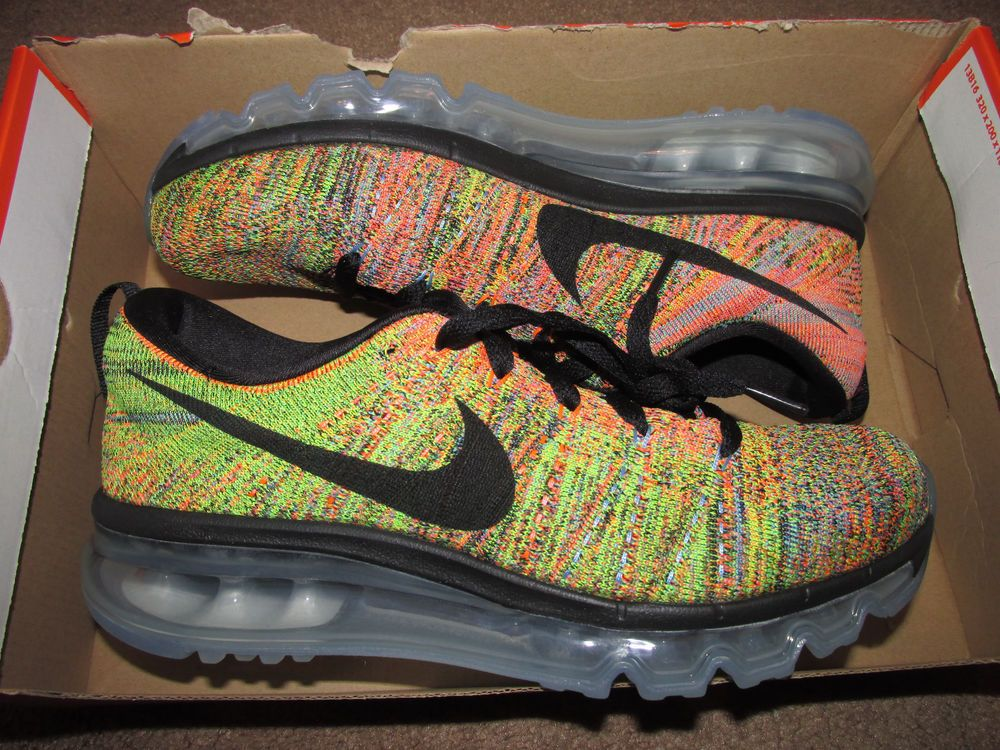 bbc47da5b9689 Nike Flyknit Max Womens Running Shoes Black Chalk Blue 620659 005  Multicolor  Nike  RunningCrossTraining