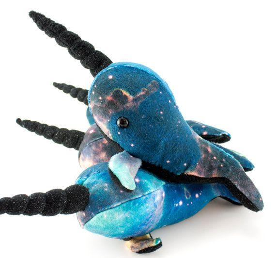 Small Galaxy Narwhal Stuffed Animal, Plush Toy, Plushie, Softie ...