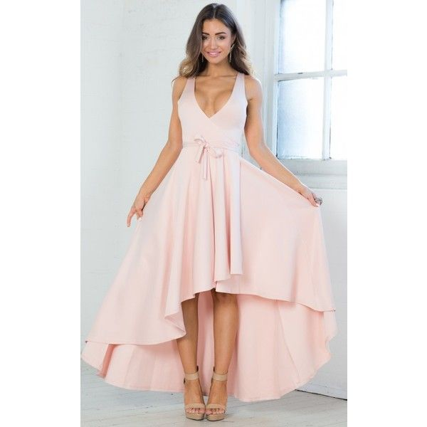 Blush Colored High Low Feminine Dress 57 Liked On