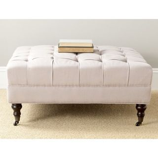 Safavieh Clark Taupe Cocktail Ottoman | Overstock.com Shopping - Great Deals on Safavieh Ottomans