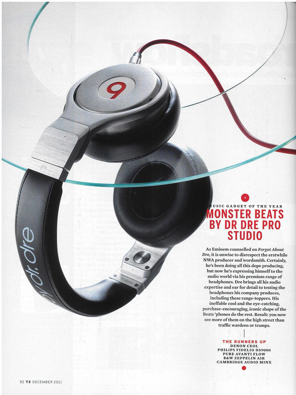 Beats by Dr.Dre Pro headphones chosen as T3 magazine's Music Gadget of the  Year
