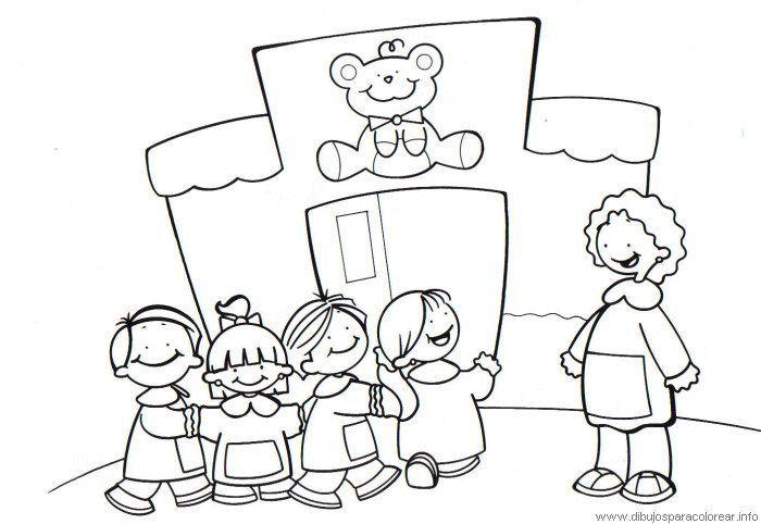 Resultado De Imagen Para Niños Yendo Ala Escuela Para Colorear