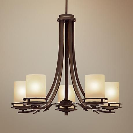 Hendrik Bronze 24 1 2 Wide 5 Light Chandelier 25698 Lamps Plus Chandelier Lighting Chandelier Lighting Fixtures Craftsman Lighting