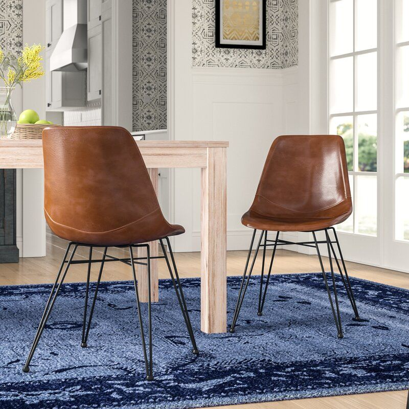 Adrianne Upholstered Side Chair Upholstered Side Chair Leather Dining Chairs Dining Chairs