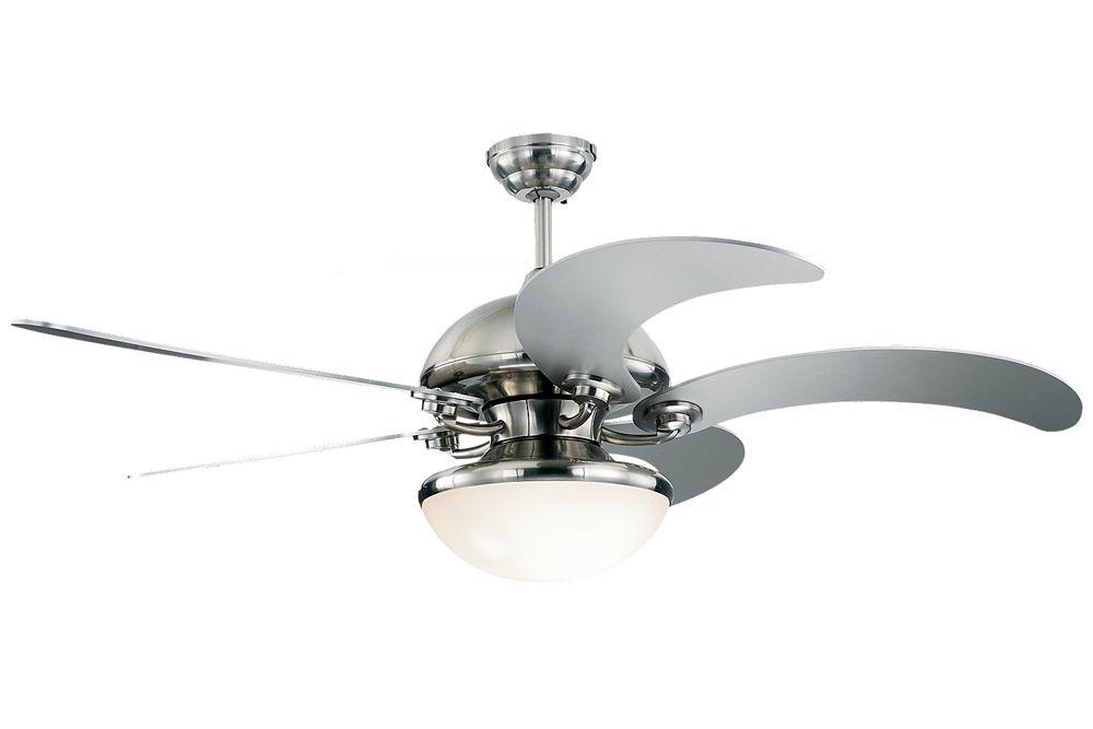 Centrifica 52 Inch 5 Blade Fan Shown In Silver By Monte Carlo Fans 5cnr52d Ceiling Fan With Light Ceiling Fan Silver Ceiling Fan