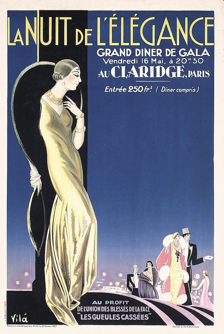 1920s art deco posters | beautiful 1920s art deco poster night of