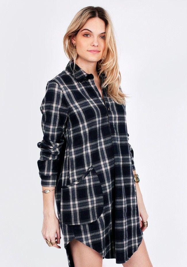Juniper Peak Plaid Dress - Dresses - Clothing | ThreadSence
