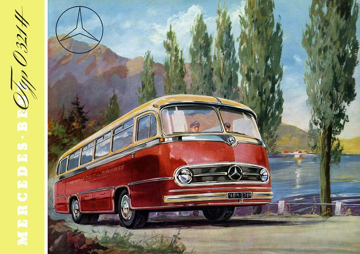 Plan59 classic truck art 1956 mercedes touring coach for Mercedes benz touring coach