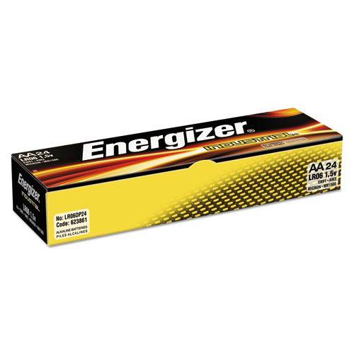 Energizer En91 Industrial Alkaline Batteries Aa 24 Batteries Box Eveen91 Alkaline Battery Energizer Battery Sizes