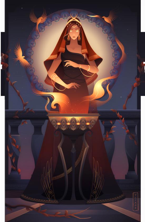 Hestia Greek Mythology by