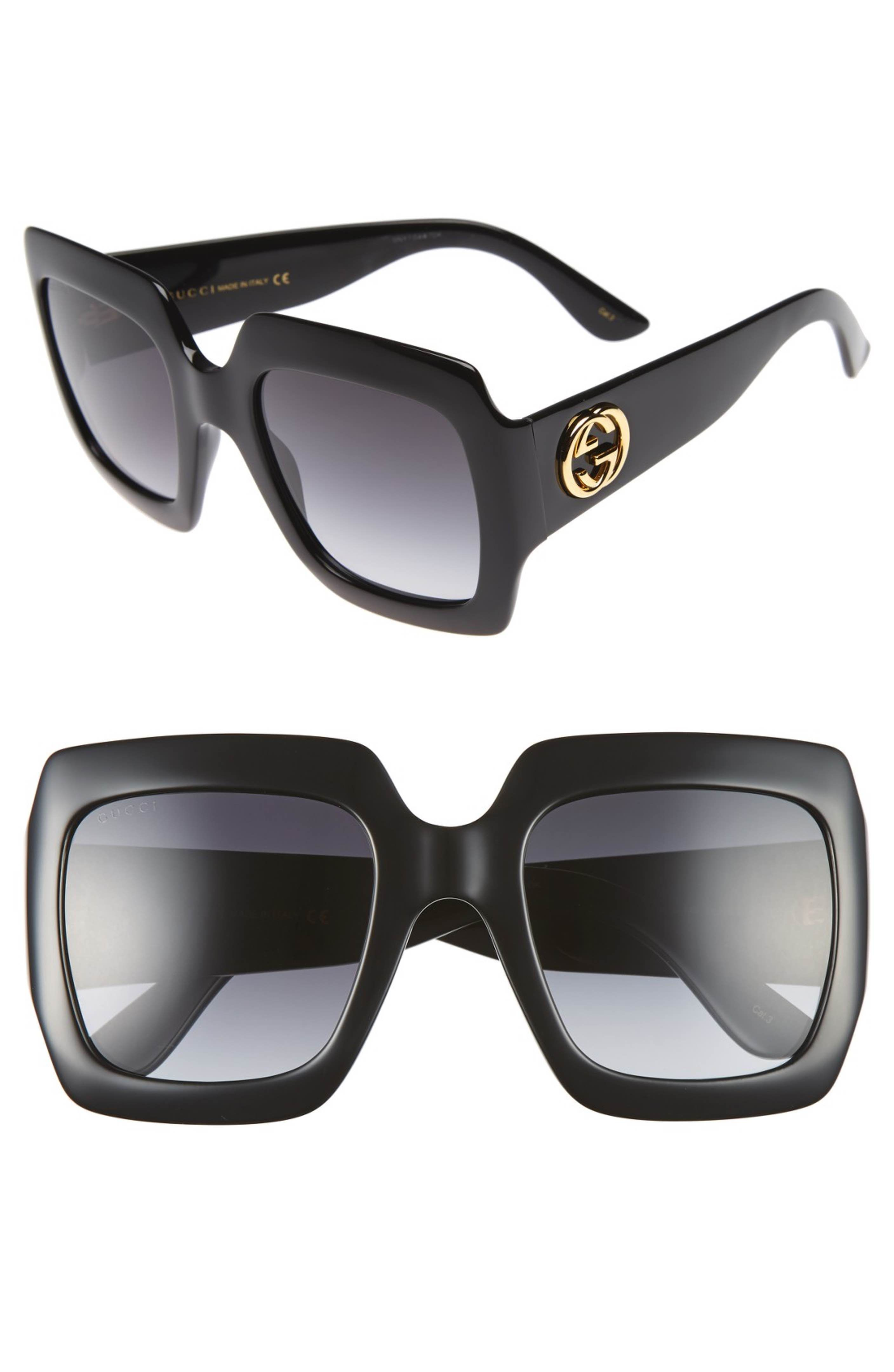 279ab48568 Main Image - Gucci 54mm Oversize Square Sunglasses - Sale! Up to 75% OFF!  Shop at Stylizio for women s and men s designer handbags