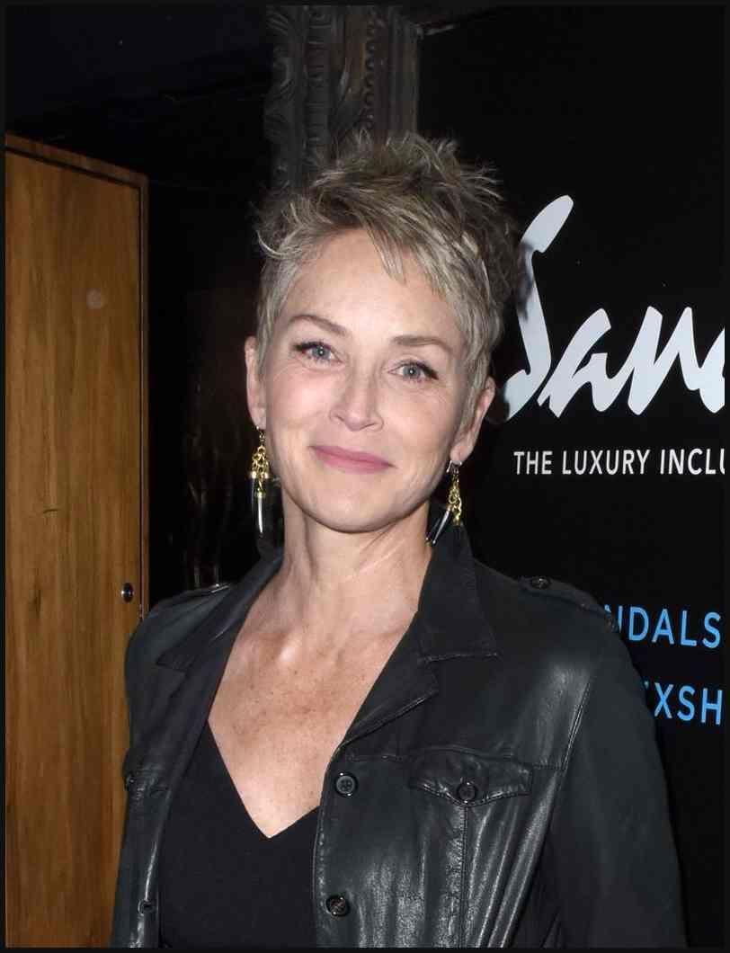 Kurzhaarfrisuren Der Stars Sharon Stone Bilder Madame De