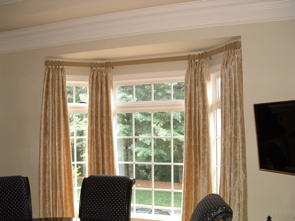 Double curtain rods with curtains - Corner Window Curtain Rods Make Home Looks Beautiful Corner Window Curtain Rods With Beautiful Motif