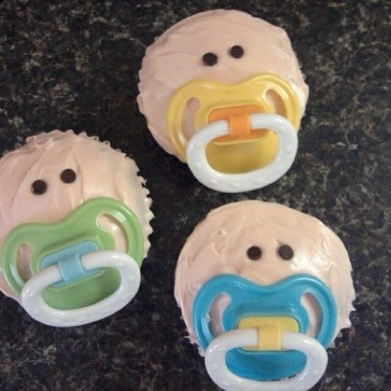 I did these, they were cute. I used different brands of pacifiers so mom could later see which one baby preferred.