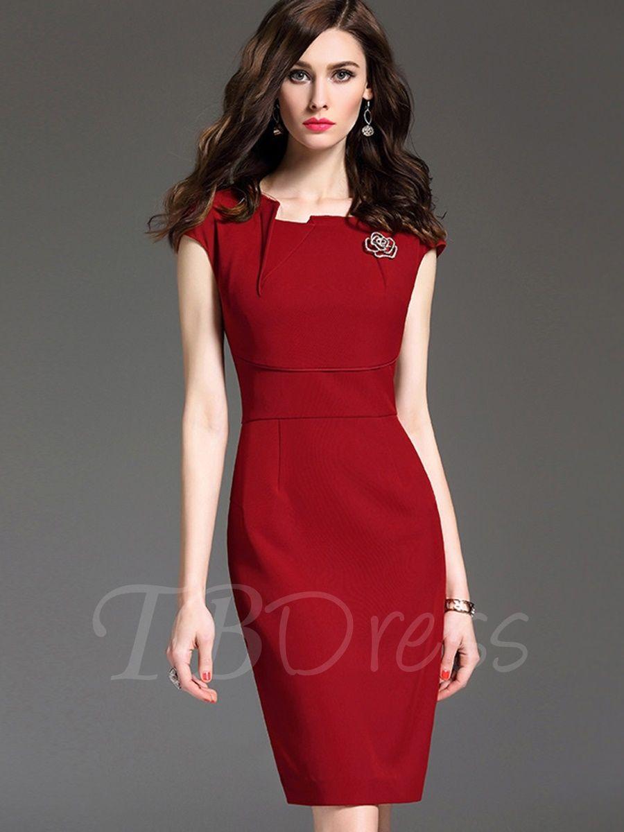 Cap sleeve plain womenus pencil dress sleeve products and pencil