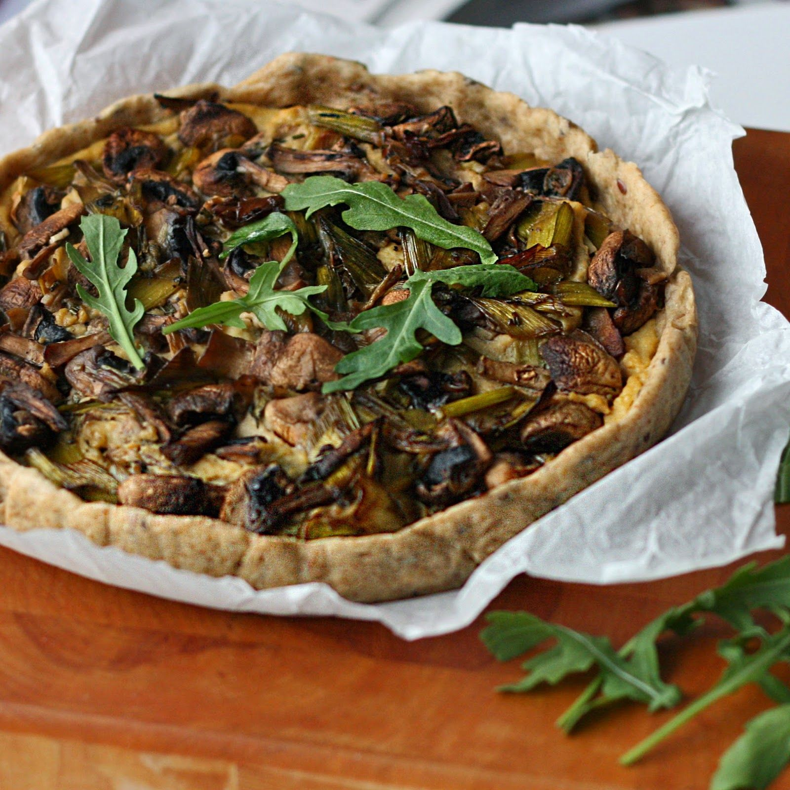 Maikin mokomin: Sieni–purjo-quiche | Mushroom and leek quiche