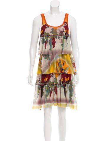 853ef2e359 Jean Paul Gaultier Tiered Parrot Print Dress | Fashionable Parrots ...