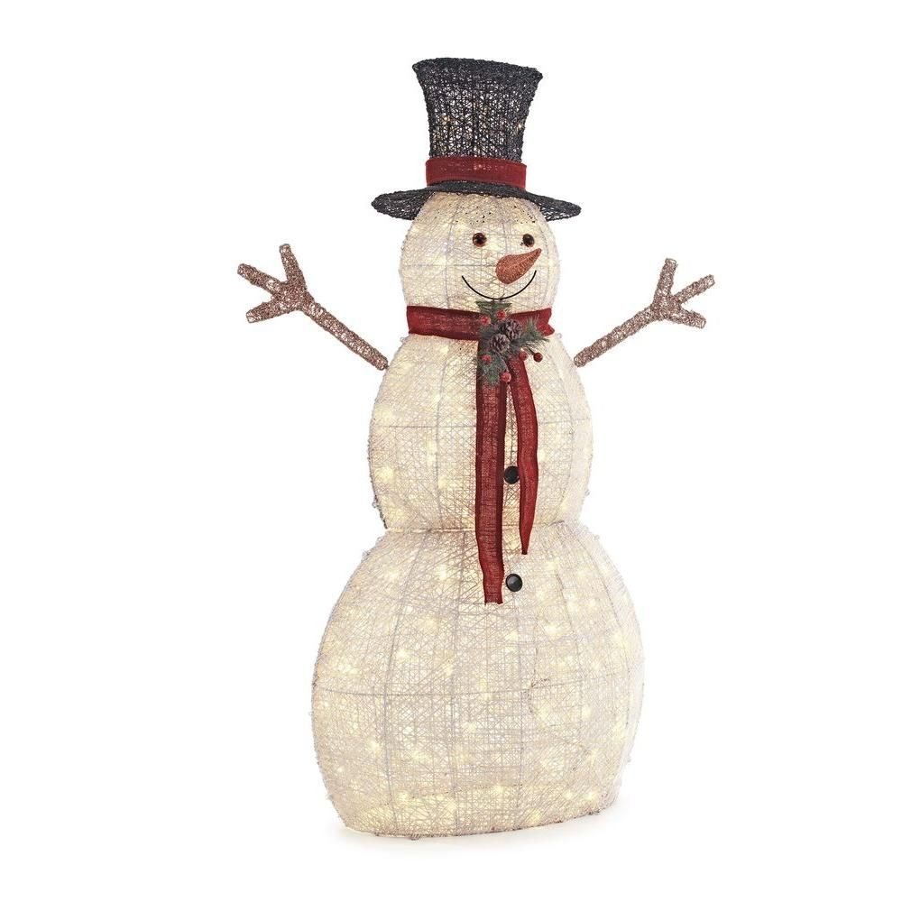 Home Accents Holiday 5 ft. Pre-Lit Snowman with Hat-TY314-1411-1 ...